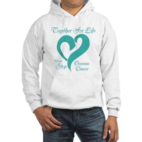 Personalizable Ovarian Cancer Hooded Sweatshirt