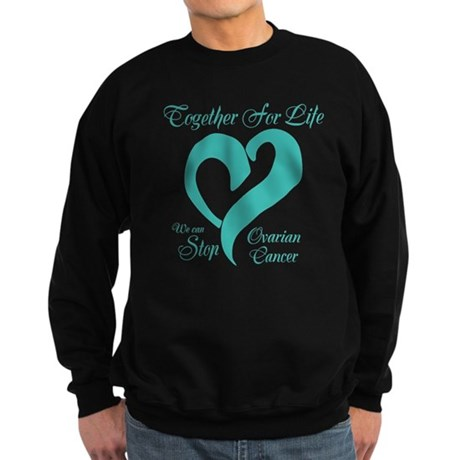 Personalizable Ovarian Cancer Sweatshirt (dark)