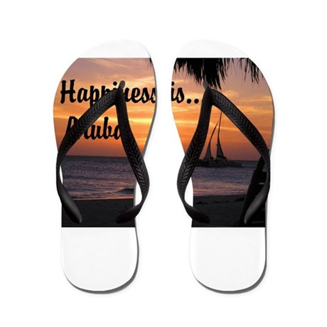 Happiness is Aruba Flip Flops