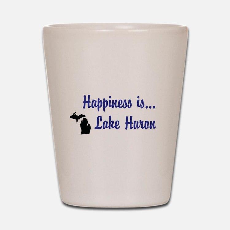 Happiness is... Lake Huron Shot Glass
