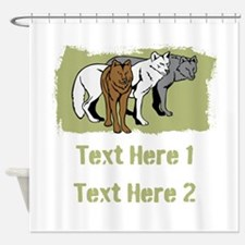 Wolves and Text. Shower Curtain