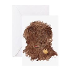 Chocolate Labradoodle Xena Greeting Card