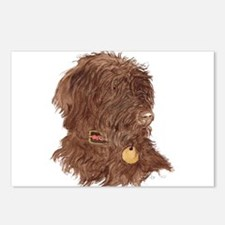 Chocolate Labradoodle Xena Postcards (Package of 8