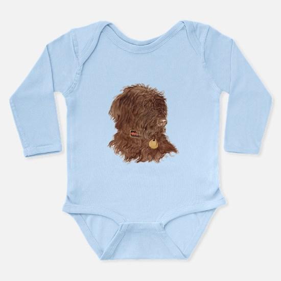 Chocolate Labradoodle Xena Long Sleeve Infant Body