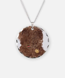 Chocolate Labradoodle Xena Necklace