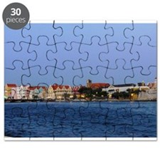 Curacao Skyline at Dusk Puzzle
