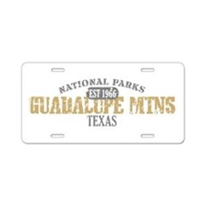 Guadalupe Mtns National Park Aluminum License Plat