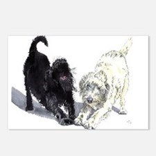 Stretching Labradoodles Postcards (Package of 8)