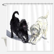 Stretching Labradoodles Shower Curtain