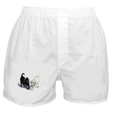 Stretching Labradoodles Boxer Shorts