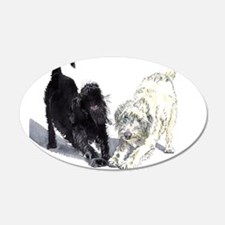 Stretching Labradoodles Wall Decal
