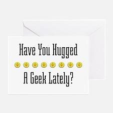 Hugged Geek Greeting Cards (Pk of 10)