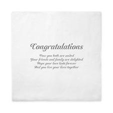 Wedding Congratulations Poem. Queen Duvet