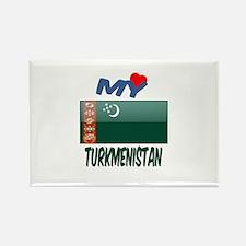 My Love Turkmenistan Rectangle Magnet