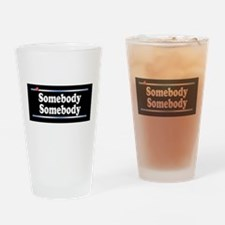 Custom Identity 2 line Drinking Glass