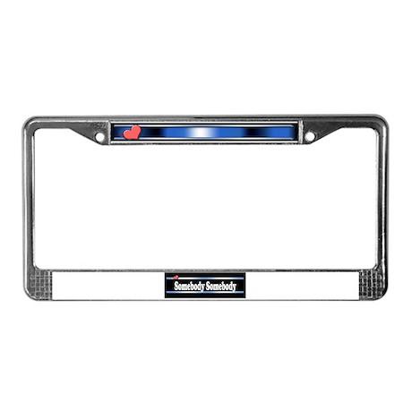 Custom Identity 2 line License Plate Frame