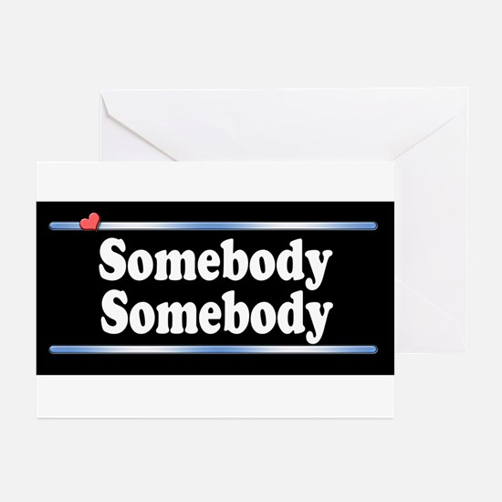 Custom Identity 2 line Greeting Cards (Pk of 10)