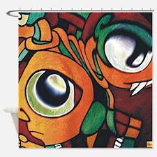 Mayan Eyes Shower Curtain