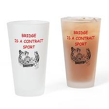 duplicate bridge Drinking Glass
