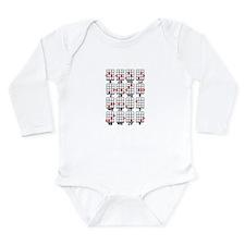 Uke Chord Cheat White Long Sleeve Infant Bodysuit