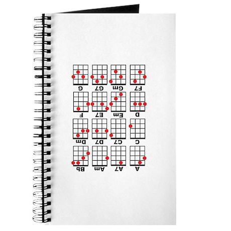 Uke Chord Cheat White Journal