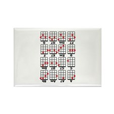 Uke Chord Cheat White Rectangle Magnet (10 pack)