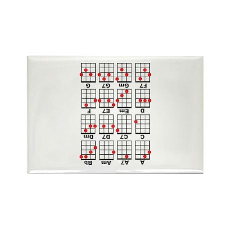 Uke Chord Cheat White Rectangle Magnet (100 pack)