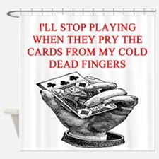 duplicate bridge player joke Shower Curtain