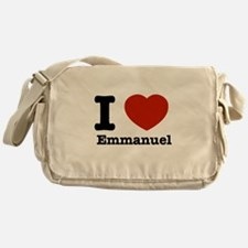 I love Emmanuel Messenger Bag