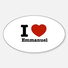 I love Emmanuel Sticker (Oval)