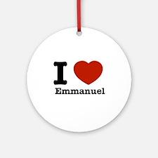 I love Emmanuel Ornament (Round)