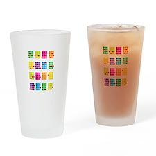 Uke Chords Colourful Drinking Glass