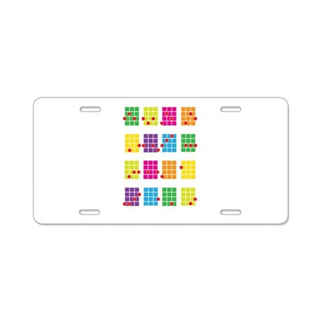 Uke Chords Colourful Aluminum License Plate