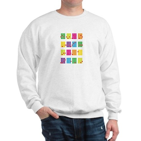 Uke Chords Colourful Sweatshirt