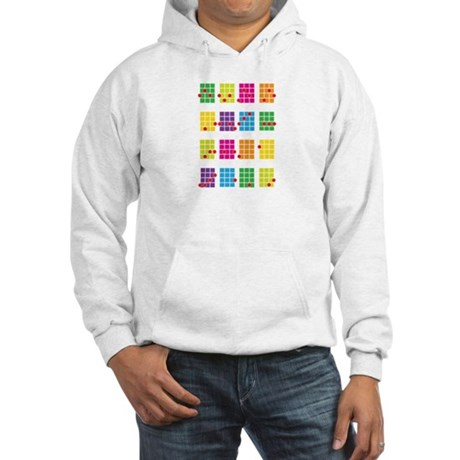 Uke Chords Colourful Hooded Sweatshirt