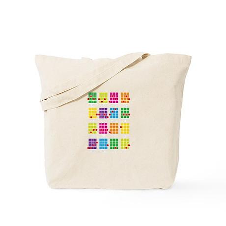Uke Chords Colourful Tote Bag