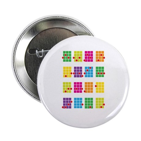 "Uke Chords Colourful 2.25"" Button"
