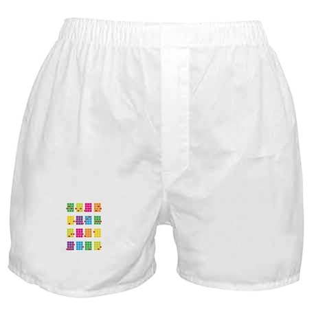 Uke Chords Colourful Boxer Shorts