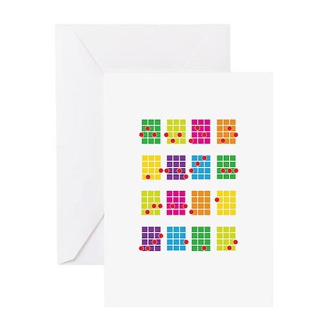 Uke Chords Colourful Greeting Card