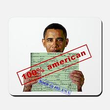 Obama 2012 D Mousepad
