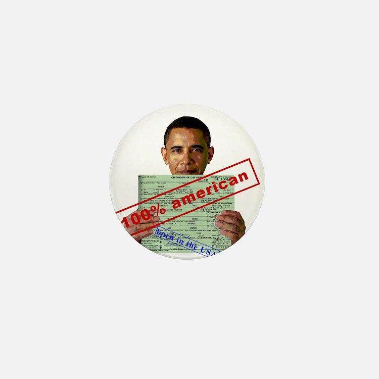 Obama 2012 D Mini Button