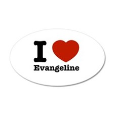 I love Evangeline 38.5 x 24.5 Oval Wall Peel