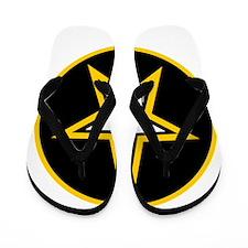 Army Star Circle Flip Flops