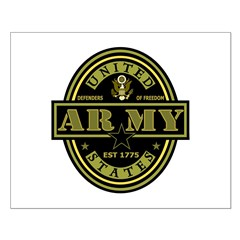 Army Oval Posters