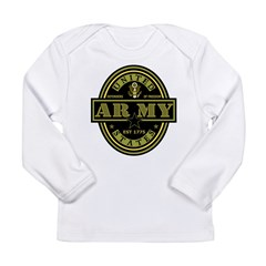Army Oval Long Sleeve Infant T-Shirt