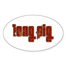 Long Pig Logo Oval Decal