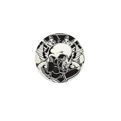 Gas Mask Skull Mini Button