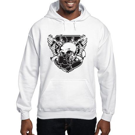 Gas Mask Skull Hooded Sweatshirt