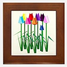 Lots O' Tulips Framed Tile