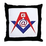 Web Savvy Masons Throw Pillow